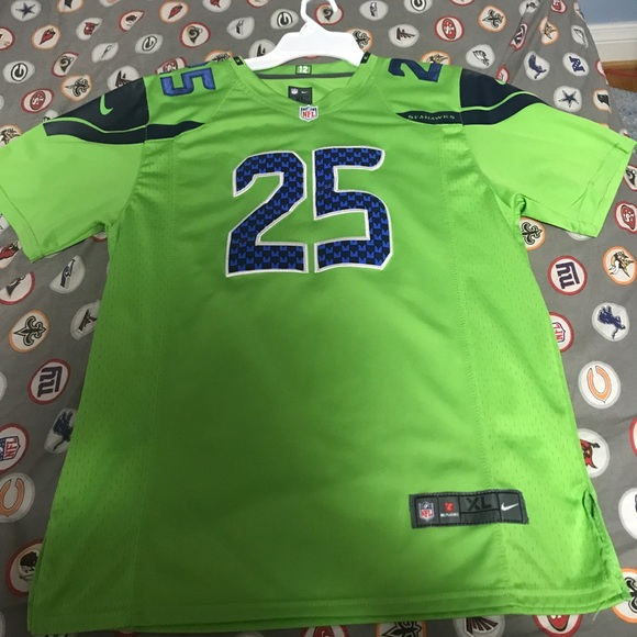 premium selection 68081 2b4fe Richard Sherman Seattle Seahawks color rush jersey